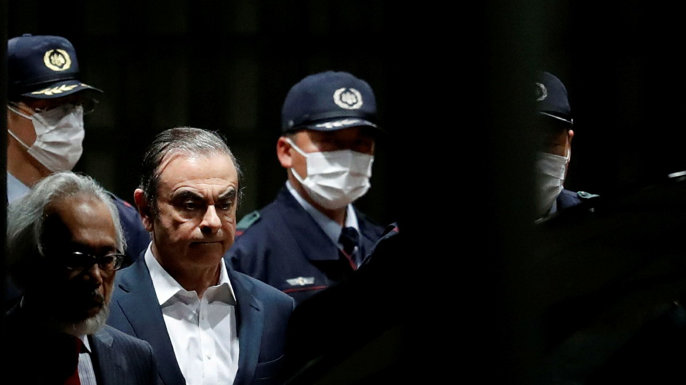 Former Nissan Motor Chariman Carlos Ghosn leaves the Tokyo Detention House in Tokyo, Japan April 25, 2019. REUTERS/Issei Kato