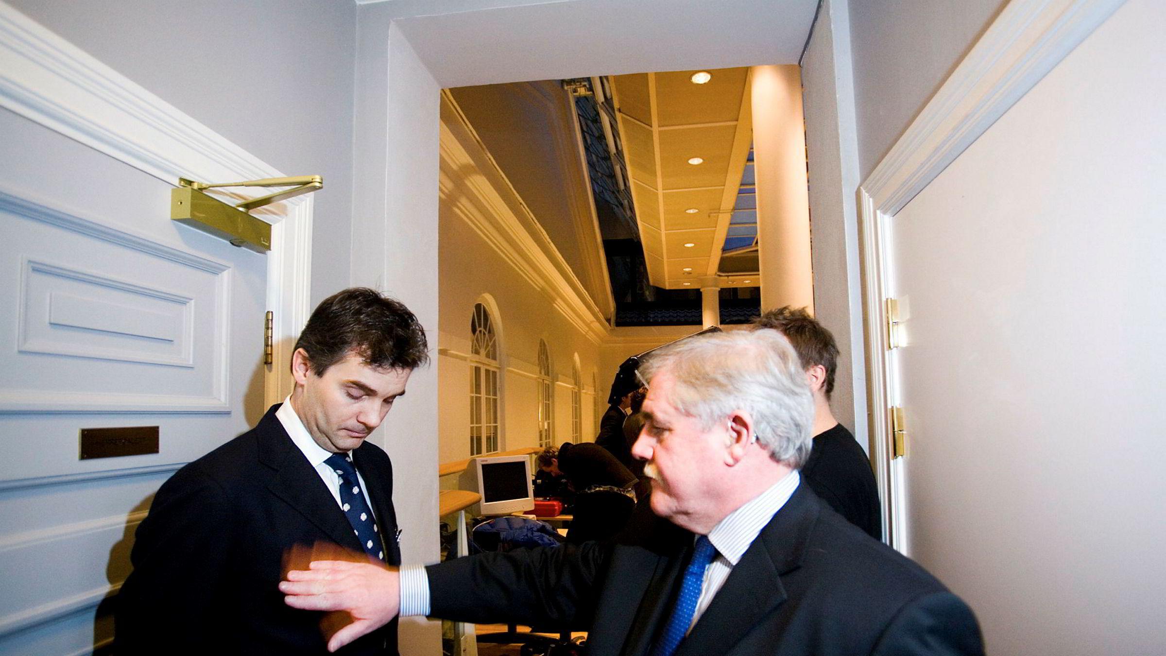 Konsernsjef Haico Halbesma (til venstre) anklager to tidligere finansdirektører for vanstyre. Her sammen med daværende driftsdirektør Jon Mears i august 2007, da selskapet ble børsnotert.