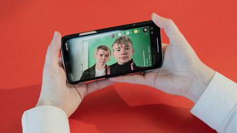 Mobilappen Tiktok er blitt svært populær. De norske artistene Marcus og Martinus sin egen konto på plattformen, med over 4,3 millioner følgere.