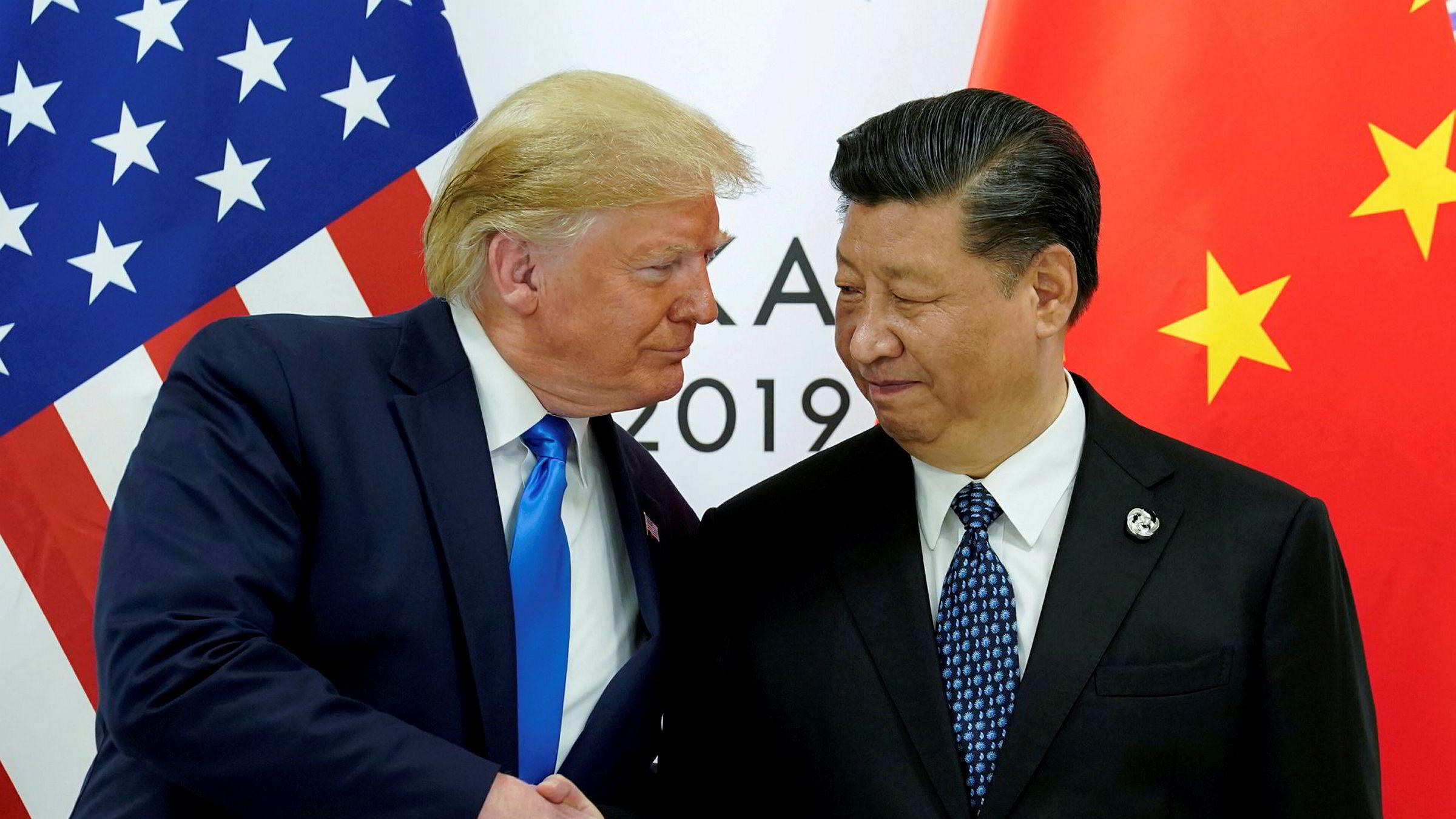 Handelsavtalen som Kina og USA ble enige om sist fredag, bør ikke gi for store forhåpninger, skriver artikkelforfatteren. President Donald Trump møter her Kinas president Xi Jinping på G20-møtet i Osaka i Japan i sommer.
