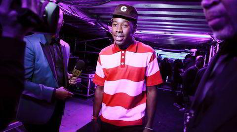 Tyler Gregory Okonma ble kjent som Tyler, the Creator etter at han stiftet hiphopkollektivet Odd Future i 2007. Her på fjorårets grammyutdeling.