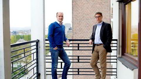 –Dette er det største oppkjøpet vi har gjort noen gang, sier Kristian Adolfsen (til høyre) etter svenskehandelen til 1,25 milliarder. Til venstre lillebror Roger.