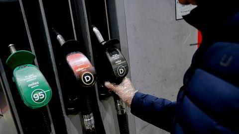 Bensinpumper, Circle K Alexander Kiellands plass. Konkurransetilsynet åpner etterforskning i drivstoffmarkedet – mistanke om ulovlig prissamarbeid. Foto: Fartein Rudjord
