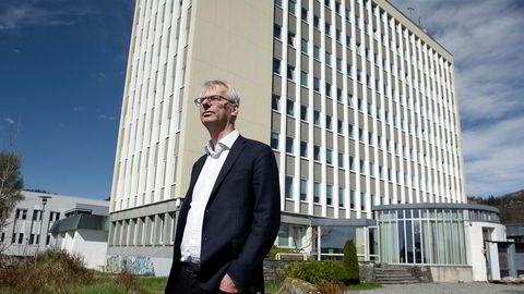 Rektor Øystein Thøgersen ved NHH forteller at rektoratet tar miljøsaken på alvor.