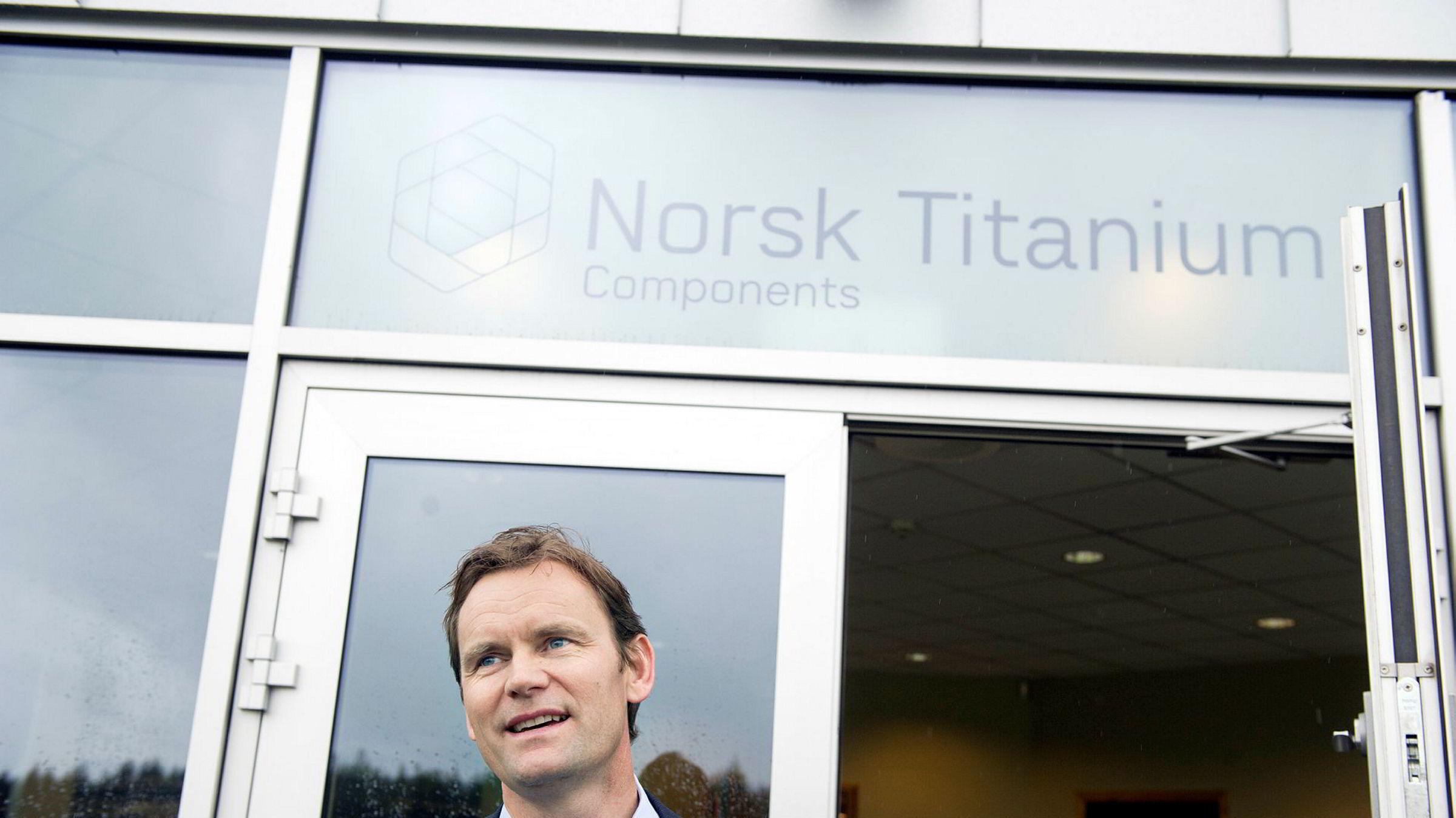 Nel-sjef Jon André Løkke var meget fornøyd da han landet en stor rammeavtale med H2V Product. Foto: Elin Høyland