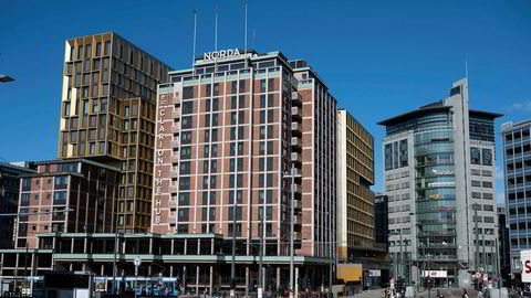 Hotellene i Oslo, her representert ved det største av dem, Clarion The Hub, mistet 65 prosent av alle overnattingene i mars.