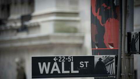 Aksjehandelen på Wall Street vingler tirsdag. / Afp PHOTO / Bryan R. Smith . .
