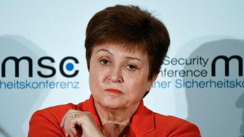 IMF-sjef Kristalina Georgieva er bekymret for den økonomiske krisen koronaviruset bringer med seg.