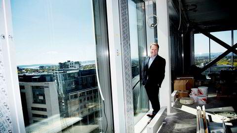 John Sætre sluttet brått i Nordea. Her er han fotografert i det norske hovedkontoret på Majorstuen.