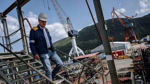 Kjetil Bollestad, administrerende direktør på Kleven Verft, er glad for at de nå får nye eiere.