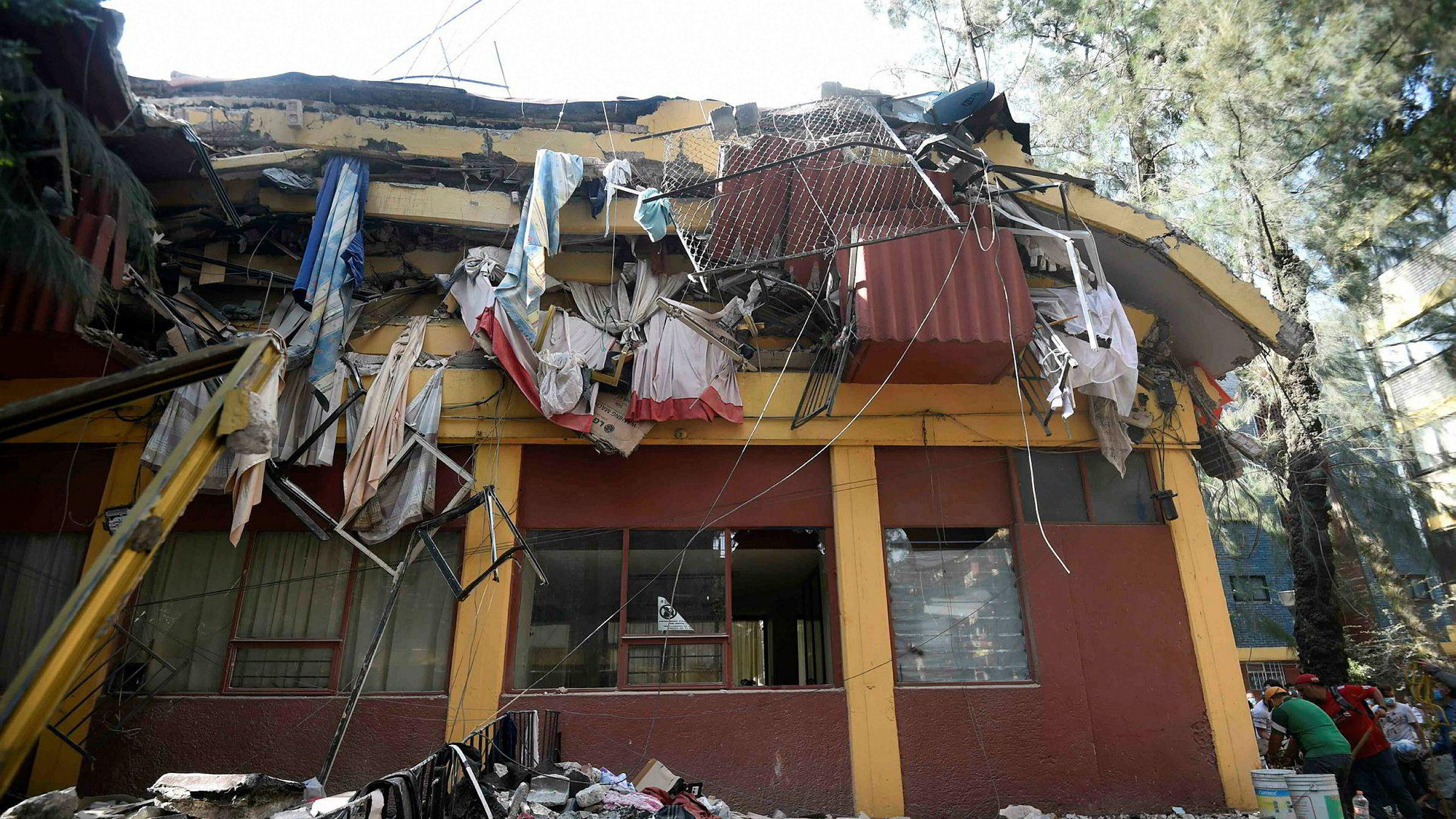 Jordskjelvet i Mexico by har ødelagt og skadet mange bygninger. Dødstallene er stadig blitt oppjustert.