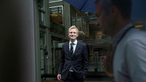 Kommersiell direktør Christian Haneborg i VG kan glede seg over sterk annonsevekst i andre kvartal.