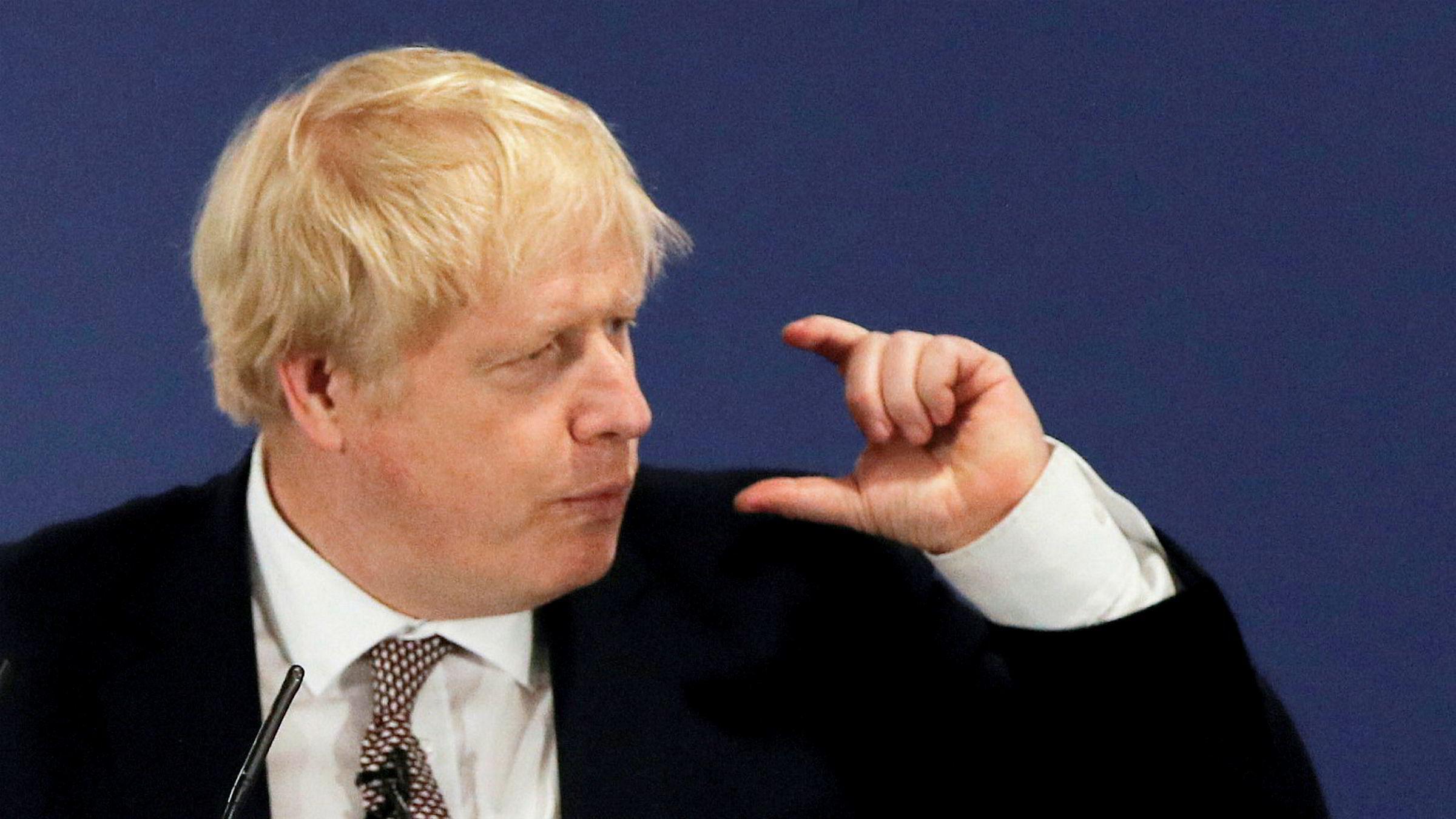Storbritannias statsminister Boris Johnson sier at han ikke ønsker Donald Trumps støtte.