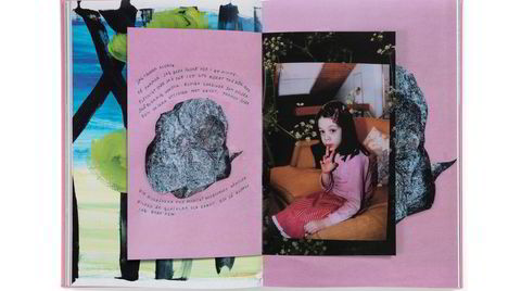 Fragmenter. Tegning, fotografier, kolasjer virker sammen i en symbiose i Goldbergs prosjekt. I «Bristningar» har hun for første gang inkludert tekstelementer. Designer Jan Rosseel har stått for utformingen av kunstboken.