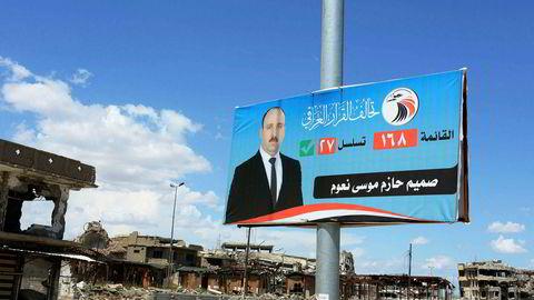 Neste helg går irakerne til urnene i valg på ny nasjonalforsamling. Det blir det første valget etter at ekstremistgruppen IS ble drevet ut av Mosul nord i Irak ifjor.