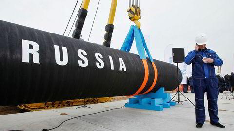 Forgiftningen av opposisjonspolitikeren Aleksej Navalnyj kan forpurre gassrørledningen Nord Stream, fra Russland til Tyskland. Her fra den russiske siden, vest for St. Petersburg.
