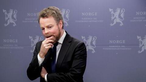 Næringsminister Torbjørn Røe Isaksen (H) er klar til de kommende handelsforhandlingene med Storbritannia. Foto: Vidar Ruud / NTB scanpix