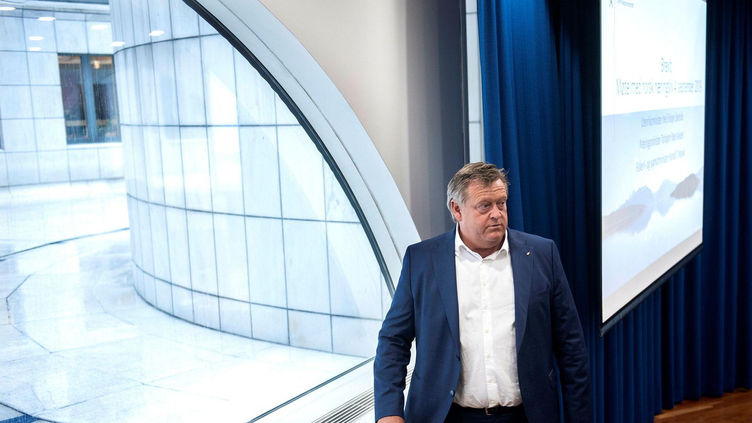 – Avtalen med EU er viktig for Norge. Sammen kan vi sikre ansvarlig forvaltning av fiskebestanden i Nordsjøen, skriver fiskeriminister Harald T. Nesvik i en pressemelding søndag.