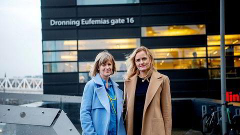 Hæge Fjellheim (til høyre) leder for karbonanalyse hos Refinitiv, og Ingvild Sørhus, karbonanalytiker samme sted, mener det er vanskelig – selv for eksperter – å vurdere den reelle klimaeffekten av klimakvotene SAS og Norwegian tilbyr.