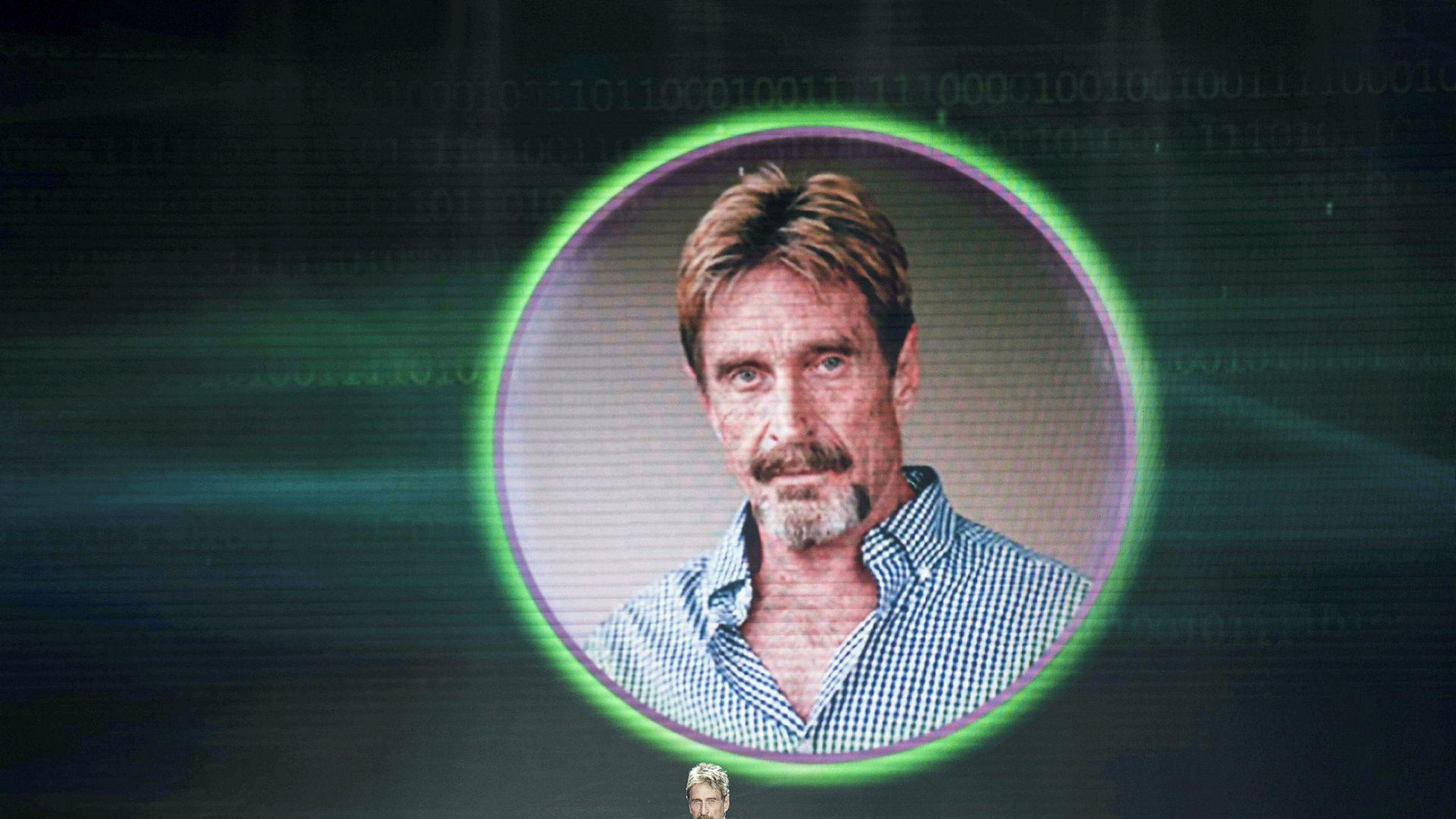 Antivirus-legende John McAfee investerer i dag i bitcoin. Arkivbilde.