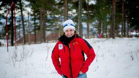 Løypesjef Hege Blichfeldt Sheriff i Skiforeningen anslår at 250.000 av Stor-Oslos befolkning går på ski hver vinter.