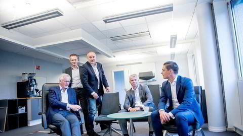 Teamet bak det nye investeringsfondet Idekapital Fund 1 er Anders Brandt (fra venstre) fra Idekapital, Kjetil Houg (Oslo Pensjonsforsikring), Magnus Carlsen-manager Espen Agdestein, Rune Holen (tidligere investeringsdirektør i Storebrand Asset Management) og Kristian Øvsthus (tidligere partner i Arkwright).