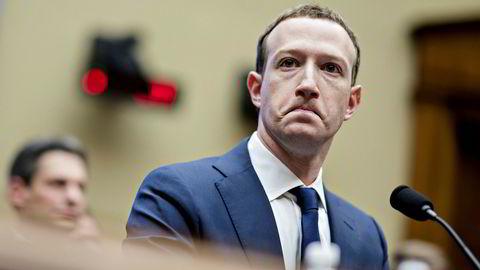 Facebooks konsernsjef og gründer Mark Zuckerberg, her avbildet under et møte i Representantenes hus i USA i april 2018.