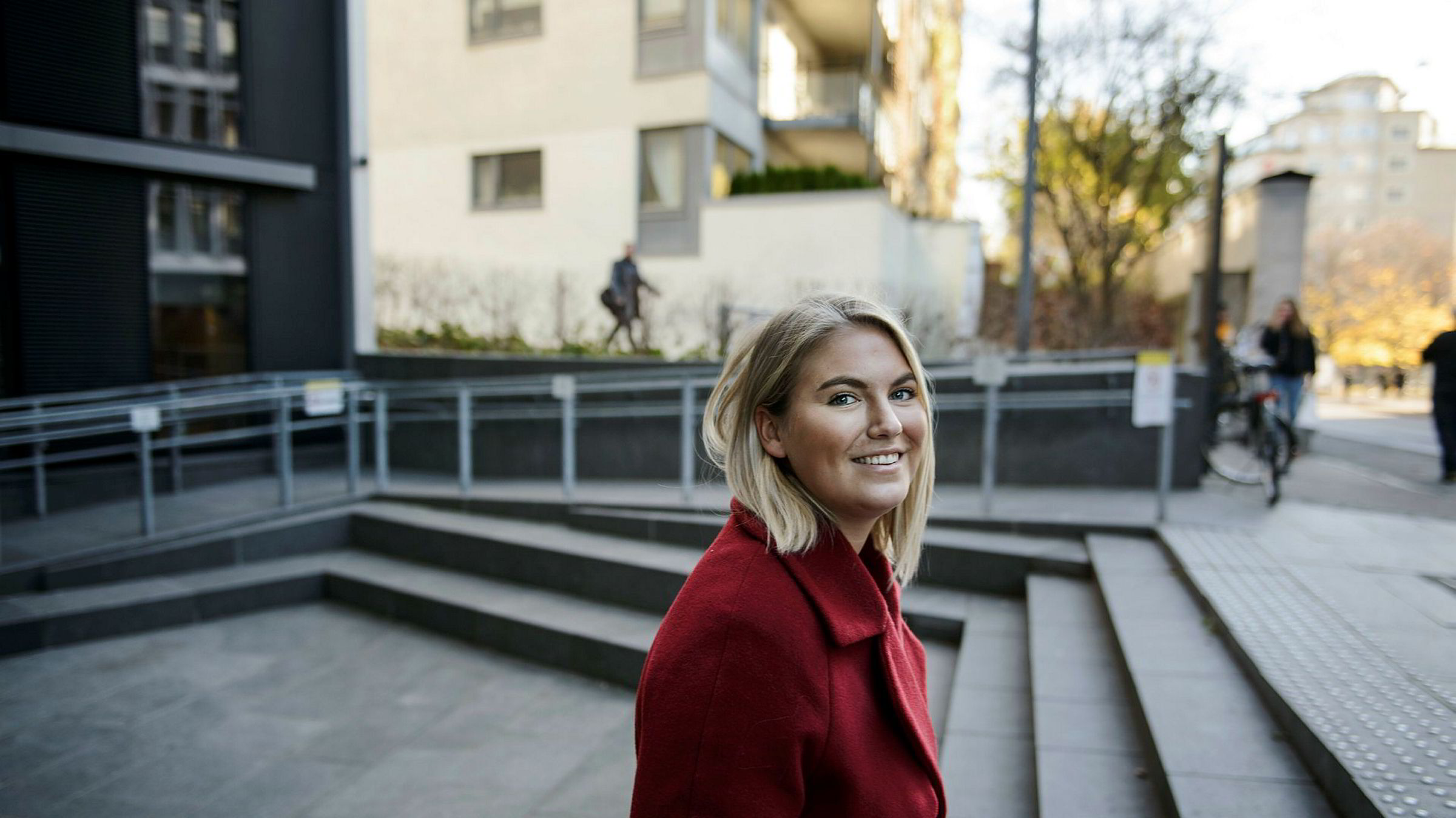 Birgitte Eek (23) går tredje året på sykepleierstudiet og drømmer om å kjøpe bolig når hun er ferdig med studiene.