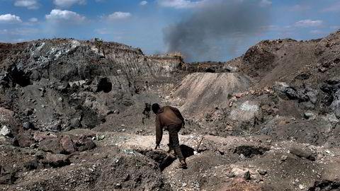 Rundt 60 prosent av verdens kobolt hentes ut av gruver i Kongo. Her fra en koboltgruve i Kawama i Kongo.