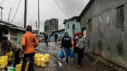 Elendige sanitære forhold er blant de største helseproblemene i verdens storbyslummer, som her i Mathare i utkanten av Nairobi.