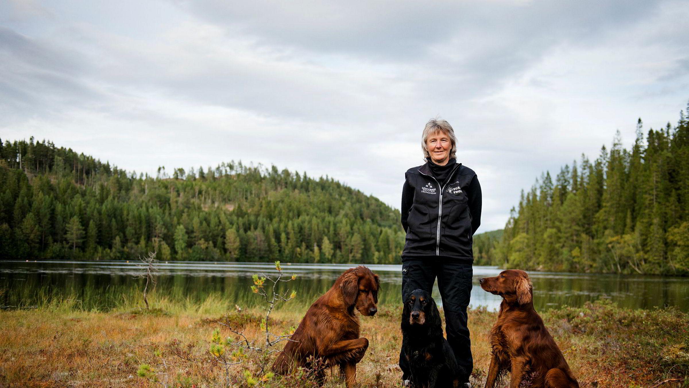 Nina Nordby Kjelsberg har avlet frem noen av landets beste jakthunder.