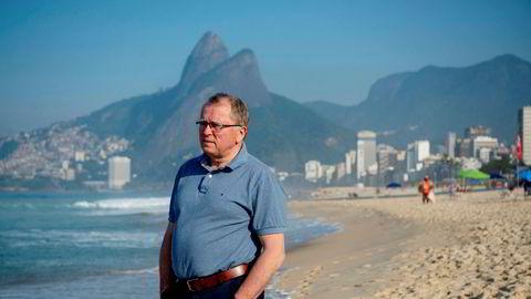 Rio de Janeiro, 23.06.2018. Eldar Sætre avbildet på Ipanema-stranden i forbindelse med et besøk til Brasil og selskapets kontorer i Rio. I 2018 varslet Equinor at de ville investere 125 milliarder kroner i Brasil.