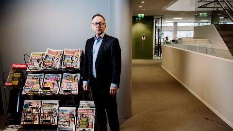 Sjefredaktør John Arne Markussen i Dagbladet opplever at avisen beveger seg fra løssalg til abonnementsavis.