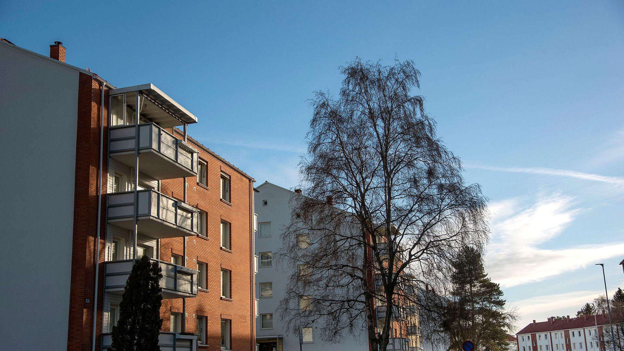Obos venter en prisoppgang i Oslo på rundt fem prosent i 2020. Arkivfoto: Obos-leiligheter på Lambertseter i Oslo.