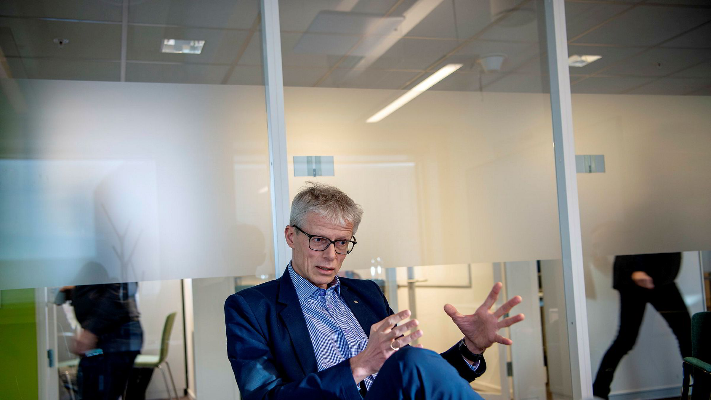 Skattedirektør Hans Christian Holte går snart til ny jobb som sjef for Nav.