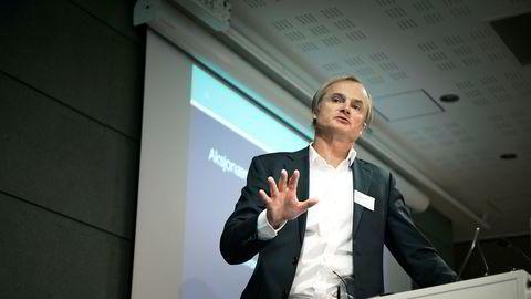 Investor Øystein Stray Spetalen delte sine erfaringer med styrearbeid på det årlige forumet til Norsk utvalg for eierstyring og selskapsledelse (NUES).