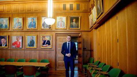 Rederiforbundets sjef Harald Solberg har en travel uke.