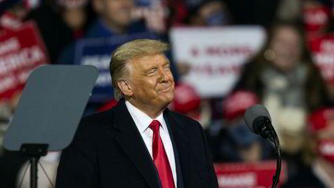 President Donald Trump på et valgmøte i Pennsylvania forrige uke.