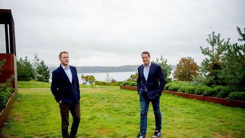 – Vi har planlagt investeringer på 500 millioner for å få selskapene frem til kommersialisering og er klare for 100 millioner til per selskap for kommersialisering, sier Fredrik Halvorsen og Odd Johnny Winge.