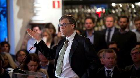 Microsoft-grunnlegger Bill Gates på Cevita. Formuen hans har økt med 63 milliarder kroner fra 2016.