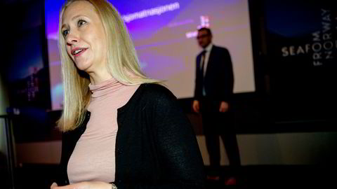 Administrerende direktør i Sjømatrådet, Renate Larsen, er ukjent med at Riksrevisjonen mener at sjømatrådet ikke har rapportert godt nok på enkelte målområder.