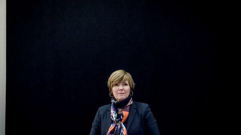 Tidl. direktør i SSB Christine Meyer før sin forklaring om SSB-saken for Stortingets kontrollkomite onsdag ettermiddag.