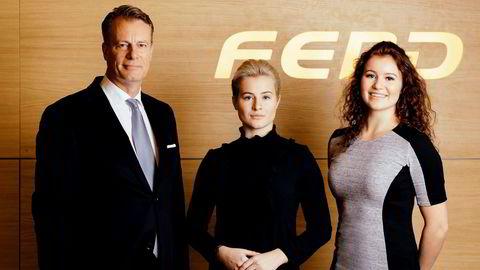 Johan H. Andresen og døtrene Katharina G. Andresen og Alexandra G. Andresen som har arvet mye av farens formue, er blant de rikeste i Norge.