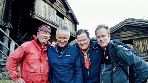 Gutta på tur gjorde comeback – fra venstre: Arne Brimi, Vegard Ulvang, Arne Hjeltnes og Bjørn Dæhlie.
