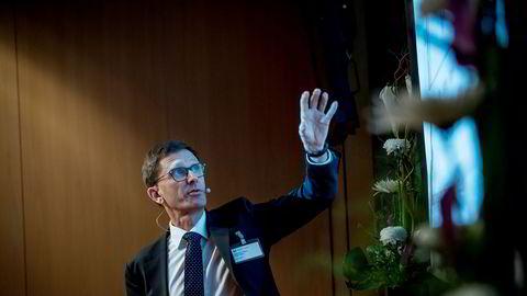 Torbjørn Hægeland, direktør for finansiell stabilitet i Norges Bank, under sentralbankens finansielle fagdag tirsdag.