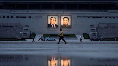 Kim Jong-un opptrer som en marxistisk halvgud uten skrupler, skriver artikkelforfatteren. Her fra Pyongyang i Nord-Korea.