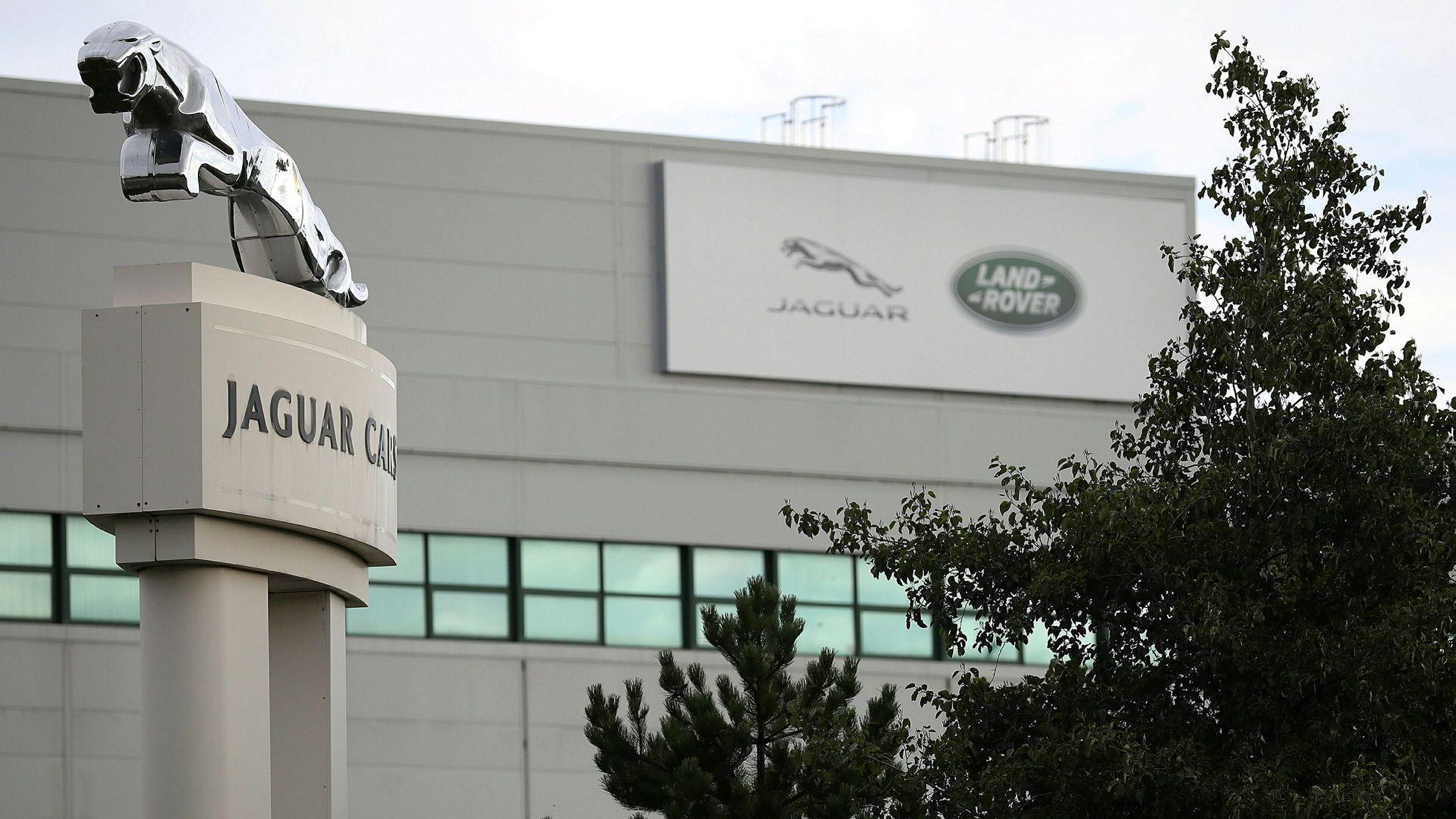 Jaguar Land Rovers fabrikk i byen Liverpool. Nå ber selskapet om et statlig lån på over én milliard pund.