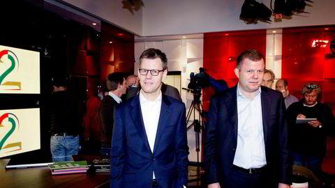 Konsernsjef Steffen Kragh og finansdirektør Hans J. Carstensen i Egmont har hatt en lønnsøkning på 135 prosent siden 2012.