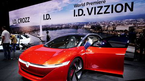 Volkswagen viste sin I.D. Vizzion i Genève for to år siden.