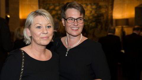 I 2014 var Monica Mæland og Tine Sundtoft statsråder i samme regjering, her på Grand Hotel etter sentralbanksjefens årstale. Senere var det Mæland som utnevnte Sundtoft til medlem av Karantenenemnda.